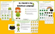 St. Patrick's Day Receptive Language Activity