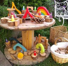 Garden of Our Dreams - Small World - Fine motor skills - messy play - outdoors - gardening - play - early years - imagination Outdoor Learning Spaces, Kids Outdoor Play, Outdoor Play Areas, Kids Play Area, Outdoor Fun, Outdoor Games, Eyfs Outdoor Area, Theme Nature, Preschool Garden