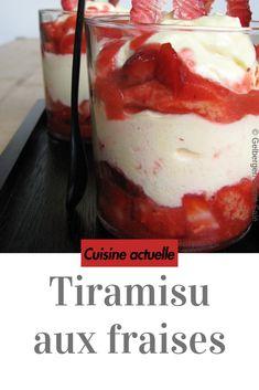 Erdbeer Tiramisu - Desserts For Parties Easy Dessert Bars, Quick Dessert Recipes, Quick Easy Desserts, Easy Cake Recipes, Bon Dessert, Dessert Dips, Tastemade Dessert, Tiramisu Dessert, Strawberry Desserts