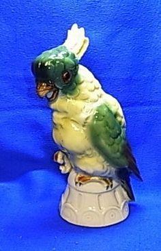 Vintage German Made Cockatoo Perfume Lamp