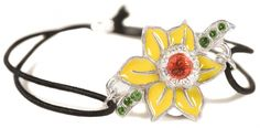 Marie Curie crystal trimmed daffodil friendship bracelet by Kleshna London Swarovski Gifts, Christian Louboutin Outlet, Marie Curie, Sale Uk, Louboutin Shoes, Shoe Sale, Daffodils, Friendship Bracelets