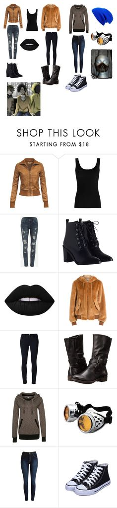 """Slender's Proxies: Females"" by lily-poindexter ❤ liked on Polyvore featuring Twenty, WithChic, Zimmermann, Lime Crime, Moschino, Frame Denim, BareTraps, Ragwear and Leith"