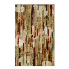 Mohawk Home Strata Facets Multi Rectangular Indoor Machine-Made Area Rug (Common: 8 x 10; Actual: 8-ft W x 10-ft L)