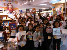 Students of Nelson Mandela Park Public School visit Indigo Eaton Centre to purchase new books for their library with their #Indigo #LoveOfReading grant. (2013) #IndigoLOR10