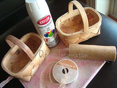 diy decorate basket for flower girls | found two cute little baskets at Hobby Lobby for $2.99 each, and the ...