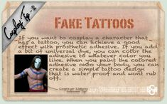 Cosplay Tip 2: Fake Tattoos by *Bllacksheep on deviantART