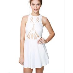 Nasty Gal cutout dress White nasty gal cutout dress, I took off the tag but I never wore it! Nasty Gal Dresses