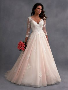 Alfred Angelo Style 2578 in Blush/Ivory