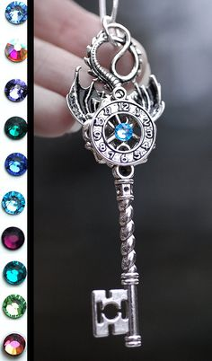 Time Dragon Key Necklace by KeypersCove on Etsy, $29.99 http://www.etsy.com/shop/KeypersCove
