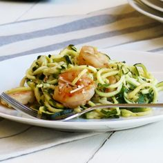 Our recipe for Lemon Garlic Shrimp with Spiralized Zucchini Noodles is as big on nutrition is it is on flavor! Prep steps featured on our latest blog: http://bit.ly/1JDvnsZ