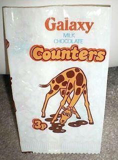 Sweet wrappers over the years - loved Galaxy counters