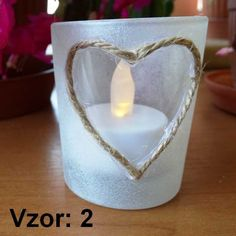 Sklenený svietnik na čajovú sviečku mix - Sviečka - S čajovou sviečkou LED (plus 1€), Vzor - Vzor 2