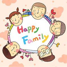"""이번 소셜포토콘테스트의 주제는 """"가족""""입니다! 여러분의 행복한 우리가족 모습을 전해주세요! Japanese Drawings, Background Powerpoint, School Pictures, Free Illustrations, Calligraphy Art, Family Love, Painting For Kids, Cute Illustration, Chinese Art"""