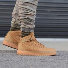 "Nike Air Force 1 Mid ""Flax"" ""Wheat"""
