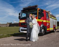 Fire Brigade wedding at Portchester Castle, photographed by Hampshire wedding photographers Jacqui Marie Photography. VISIT http://jacqui-marie-photography.co.uk for details.  #wedding #photography #weddingphotography #Hampshire #England #uk