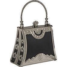 GABRIELLE'S AMAZING FANTASY CLOSET | Vintage Art Deco Black & Silver Evening Bag |