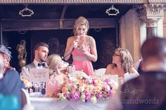 Chief Bridesmaids Speech at Rhinefield House Wedding. Photography by one thousand words wedding photographers