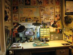 Hobby Desk, Hobby Room, Workshop Studio, Home Workshop, Essentials Magazine, Circuits, Scale Models, Diorama, Modeling