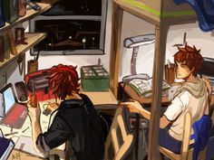 http://meltesh28.tumblr.com/post/63181202327/college-au-yeah-i-really-like-the-idea-of-them
