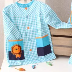 Color Naranja, Color Azul, School Pinafore, Button Down Shirt, Men Casual, Shirt Dress, Mens Tops, Shirts, Kindergarten