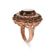 Anillo de diamantes y cuarzo fumé - BPR2246CFAL (Sortijas)