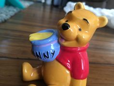 Retired Winnie The Pooh Disney Ceramic Figurine Collectible 4 034 Hunny | eBay