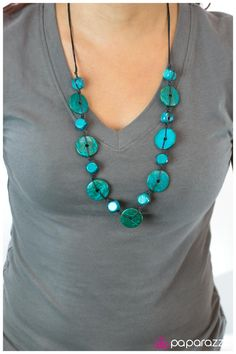 Boardwalk Beauty. Only $5 for the necklace and matching earrings!   http://paparazziaccessories.com/35186