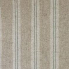 Stripe Duck egg Linen - Kate Forman 100% linen £35 per m