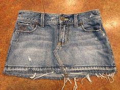 Hollister Denim Mini Skirt Distressed Acid Wash Sz 0 Denim Mini Skirt, Mini Skirts, Abercrombie Girls, Hollister, Jean Shorts, Chic, Jeans, Clothing, Fashion