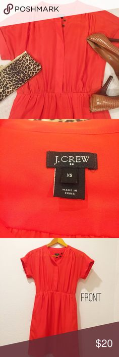 J. CREW Casual Orange Dress with Pockets - Thin Cute casual or career J. CREW dress.  Dress is thin, not lined.  Preloved in good condition. J. Crew Dresses