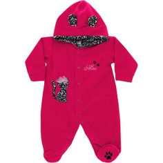 Macacão Bebê Menina em Soft Oncinha Pink - Nini & Bambini :: 764 Kids | Roupa bebê e infantil