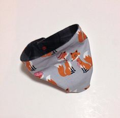 "Baby ""Infinity Scarf"" Drool Bibs. In Grey ""Hipster Foxes"". Fox print. By Mommy Can Sew, on Etsy"