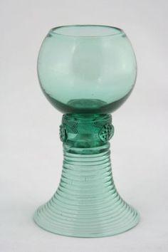 8x Antique 18th C White Wine Glass Roemer CA 1790 | eBay