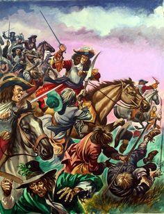 The battle of Sedgemoor (Original) art by Peter Jackson at The Illustration Art Gallery