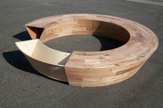 Louis Lim's Round is a Circular Bench Made of Reclaimed NYC Wood | Inhabitat New York City