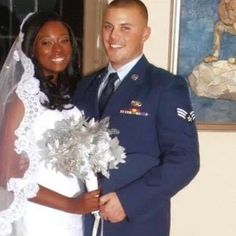 Don and Tabitha's Wedding Photo #MilitaryWedding AirForceServiceMembers