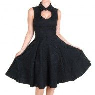 Vestido Negro Brocado