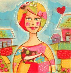Art by Ansu Mixed Media Artists, Princess Zelda, Disney Princess, Art Studios, Paper Art, Disney Characters, Fictional Characters, Aurora Sleeping Beauty, Scrapbook