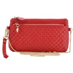 Missmay Women's Leather Wristlet Clutch Purse Organizer Wallet Zip Coin Bag *** Click image to review more details.