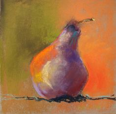 99 pears later, day 2 Marie-France Oosterhof pastel 20x20 cm