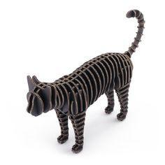 d-torso: Cat Black cardboard 3d building model puzzle, at 8% off!