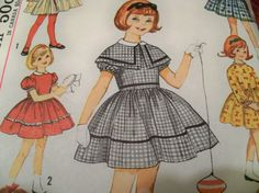 No. 4586 Simplicity 1960's  Size 4 Girls' by CarolinaJayUnusuals, $9.00