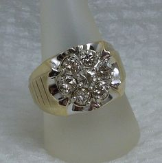 Gents Diamond Ring in 14k Yellow & White Gold, $1,250.