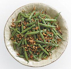 GREEN BEANS WITH SMOKED PAPRIKA AND ALMONDS http://www.finecooking.com/recipes/green-beans-smoked-paprika-almonds.aspx