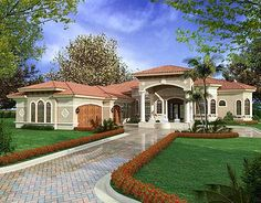 Florida One Story House Designs | ... 250 House plans are Copyright © 2014 by our architects and designers
