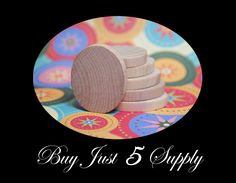 20 Unfinished Wood Ovals .. Discs, Smooth, Ready to Glaze, Paint, Decoupage, Stain, Stamp for Magnets, Art, Jewelry, more.... $3.10, via Etsy.
