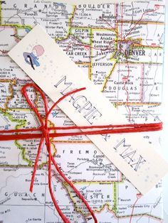 Vintage Map stationery shabby chic invites wedding by MagpieandMax, $38.00