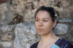 Retrato de mi mujer hecho durante nuestro viaje a Grecia