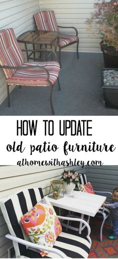 How to Update Old Patio Furniture - at home with Ashley