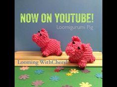 Rainbow Loom PIG - Loomigurumi - Looming WithCheryl . Loomigurumi - Looming WithCheryl Loomigurumi - Looming With Cheryl. ( Looming WithCheryl ) Loomigurumi Tutorial is Now on YouTube! Charms / figures / gomitas / gomas / animals / Amigurumi. Crochet hook only. Please Subscribe ❤️❤ m.youtube.com/user/LoomingWithCheryl